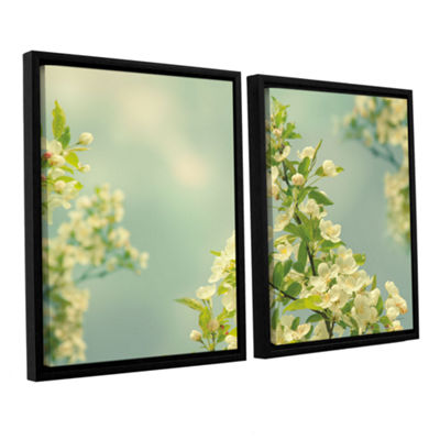 Brushstone Spring Beauty II 2-pc. Floater Framed Canvas Wall Art