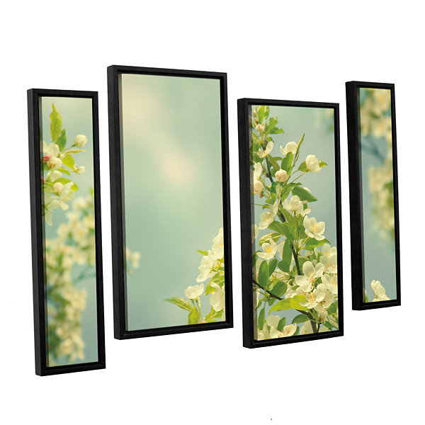 Brushstone Spring Beauty II 4-pc. Floater Framed Staggered Canvas Wall Art