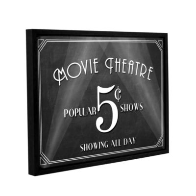 Brushstone Movie Theatre Gallery Wrapped Floater-Framed Canvas Wall Art