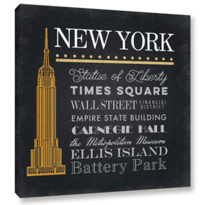 Brushstone NYC Empire State Building Gallery Wrapped Canvas