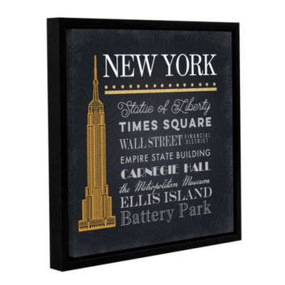 Brushstone NYC Empire State Building Gallery Wrapped Floater-Framed Canvas