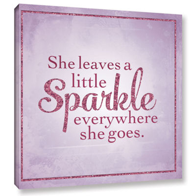 Brushstone Sparkle 1 Gallery Wrapped Canvas