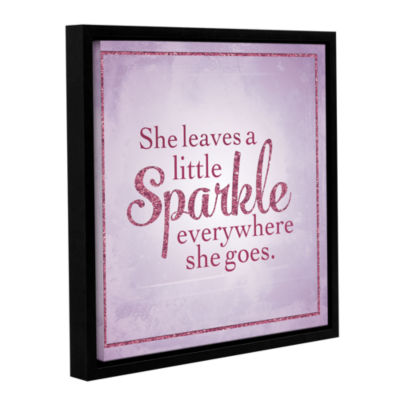 Brushstone Sparkle 1 Gallery Wrapped Floater-Framed Canvas
