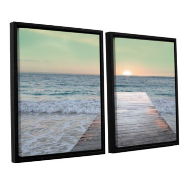 Brushstone Sunrise Dock 2-pc. Floater Framed Canvas Wall Art