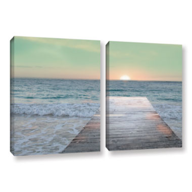 Brushstone Sunrise Dock 2-pc. Gallery Wrapped Canvas Wall Art