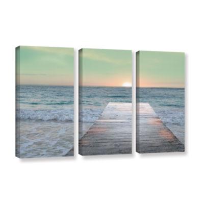 Brushstone Sunrise Dock 3-pc. Gallery Wrapped Canvas Wall Art
