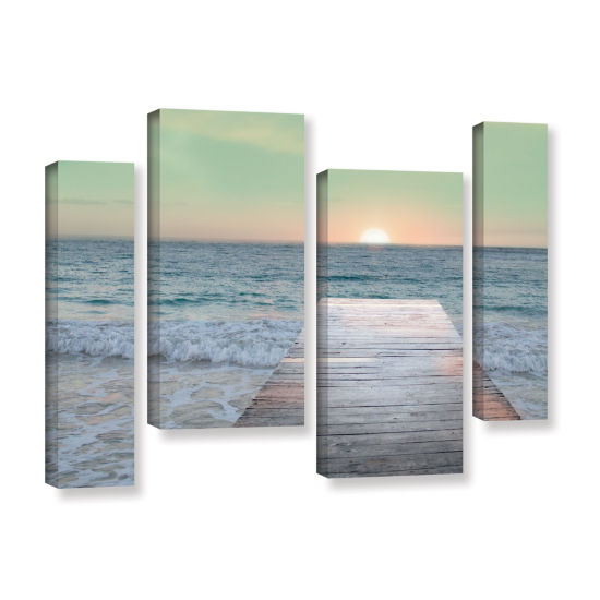 Brushstone Sunrise Dock 4-pc. Gallery Wrapped Staggered Canvas Wall Art