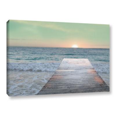 Brushstone Sunrise Dock Gallery Wrapped Canvas Wall Art