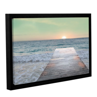 Brushstone Sunrise Dock Gallery Wrapped Floater-Framed Canvas Wall Art