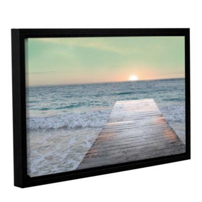 Brushstone Sunrise Dock Gallery Wrapped Floater-Framed Canvas Wall Art