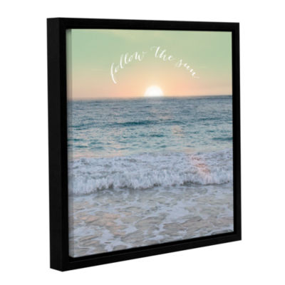 Brushstone Sunrise Dock Inspiration Gallery Wrapped Floater-Framed Canvas Wall Art