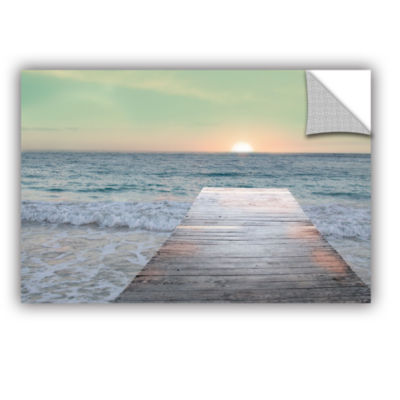 Brushstone Sunrise Dock Removable Wall Decal
