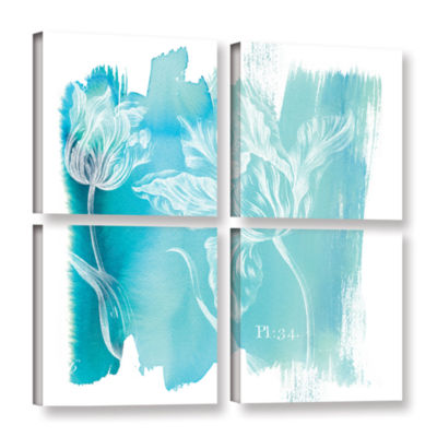 Brushstone Water Wash I 4-pc. Square Gallery Wrapped Canvas Wall Art