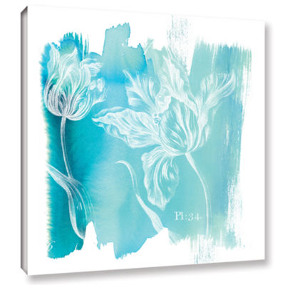 Brushstone Water Wash I Gallery Wrapped Canvas Wall Art