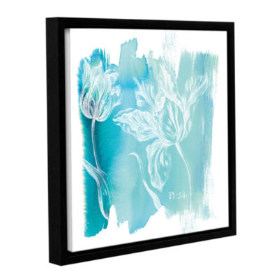 Brushstone Water Wash I Gallery Wrapped Floater-Framed Canvas Wall Art