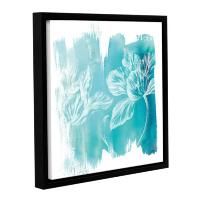 Brushstone Water Wash II Gallery Wrapped Floater-Framed Canvas Wall Art