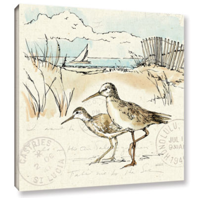 Brushstone Coastal Breeze IX Gallery Wrapped Canvas Wall Art
