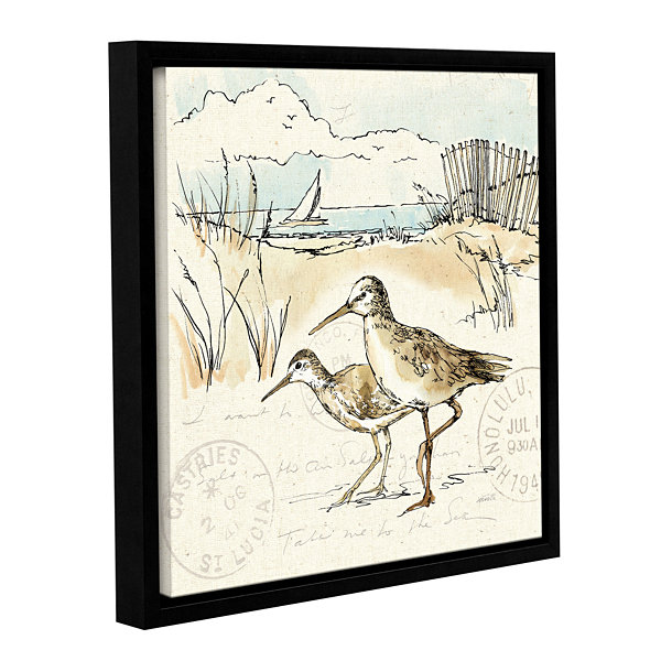 Brushstone Coastal Breeze IX Gallery Wrapped Floater-Framed Canvas Wall Art