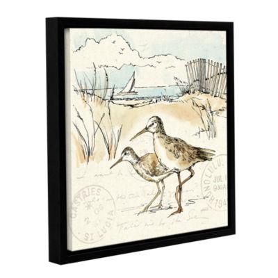 Brushstone Coastal Breeze IX Gallery Wrapped Floater-Framed Canvas Wall Art