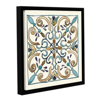 Brushstone Coastal Breeze Tile I Gallery Wrapped Floater-Framed Canvas Wall Art