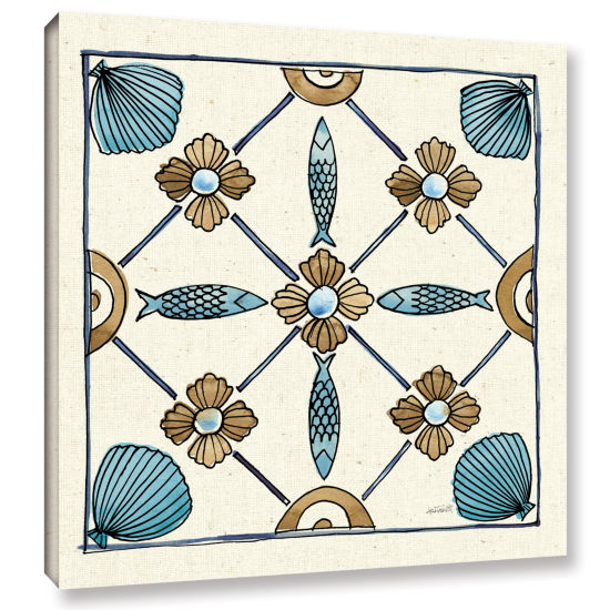 Brushstone Coastal Breeze Tile II Gallery WrappedCanvas Wall Art