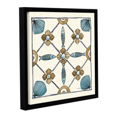 Brushstone Coastal Breeze Tile II Gallery WrappedFloater-Framed Canvas Wall Art