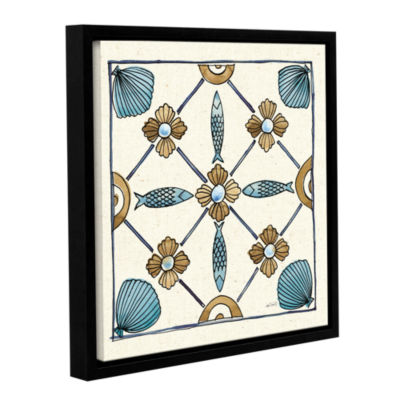 Brushstone Coastal Breeze Tile II Gallery WrappedFloater-Framed Canvas Wall Art