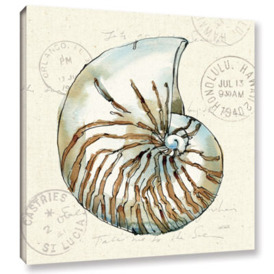 Brushstone Coastal Breeze V Gallery Wrapped CanvasWall Art