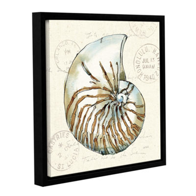 Brushstone Coastal Breeze V Gallery Wrapped Floater-Framed Canvas Wall Art