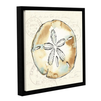 Brushstone Coastal Breeze VI Gallery Wrapped Floater-Framed Canvas Wall Art