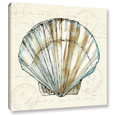 Brushstone Coastal Breeze VII Gallery Wrapped Canvas Wall Art