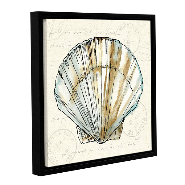 Brushstone Coastal Breeze VII Gallery Wrapped Floater-Framed Canvas Wall Art