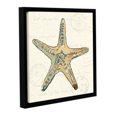 Brushstone Coastal Breeze VIII Gallery Wrapped Floater-Framed Canvas Wall Art