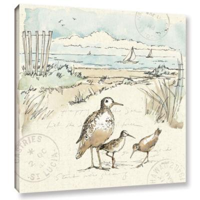 Brushstone Coastal Breeze X Gallery Wrapped CanvasWall Art