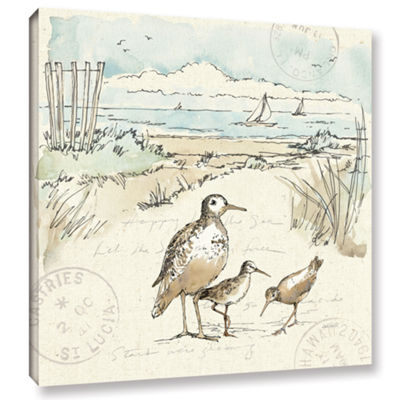 Brushstone Coastal Breeze X Gallery Wrapped CanvasWall Art