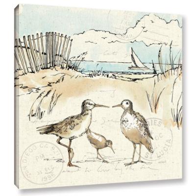 Brushstone Coastal Breeze XI Gallery Wrapped Canvas Wall Art