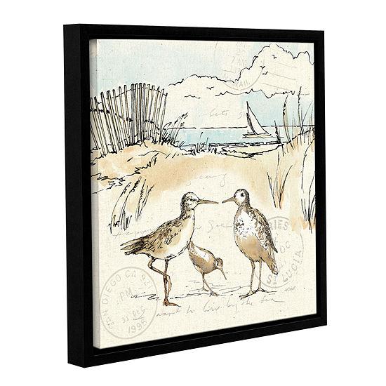 Brushstone Coastal Breeze XI Gallery Wrapped Floater-Framed Canvas Wall Art