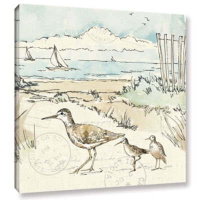 Brushstone Coastal Breeze XII Gallery Wrapped Canvas Wall Art