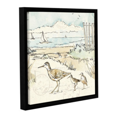 Brushstone Coastal Breeze XII Gallery Wrapped Floater-Framed Canvas Wall Art