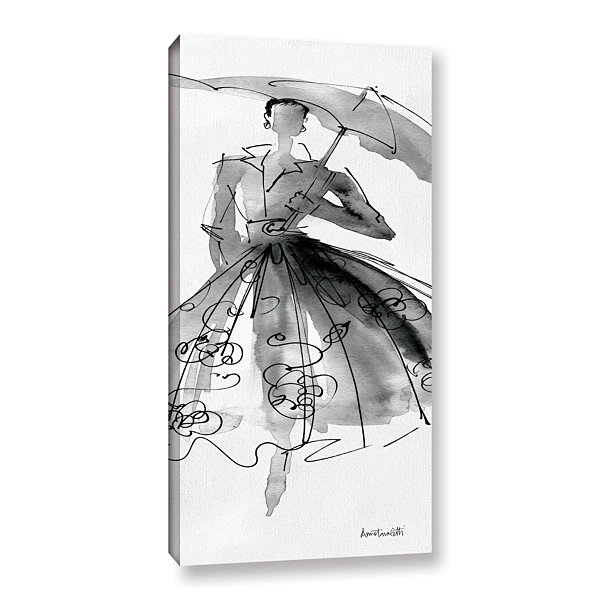 Brushstone Fashion Sketchbook VI Gallery Wrapped Canvas Wall Art