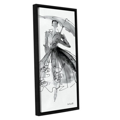 Brushstone Fashion Sketchbook VI Gallery Wrapped Floater-Framed Canvas Wall Art