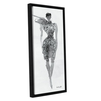 Brushstone Fashion Sketchbook VIII Gallery WrappedFloater-Framed Canvas Wall Art
