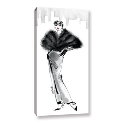 Brushstone Fifties Fashion I Gallery Wrapped Canvas Wall Art