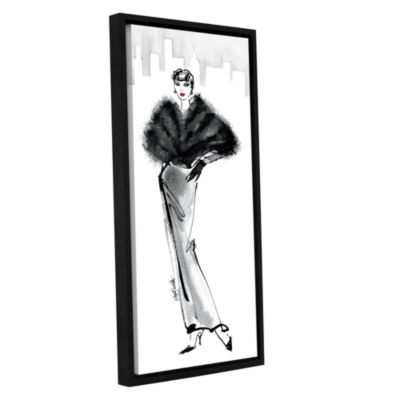 Brushstone Fifties Fashion I Gallery Wrapped Floater-Framed Canvas Wall Art