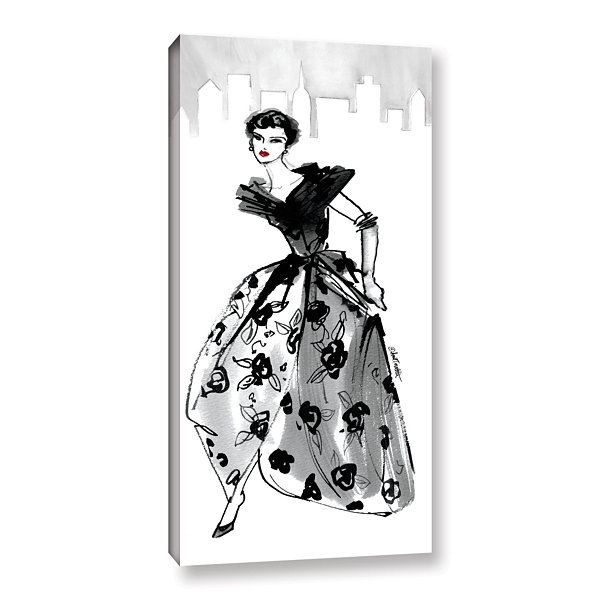 Brushstone Fifties Fashion II Gallery Wrapped Canvas Wall Art
