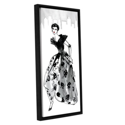 Brushstone Fifties Fashion II Gallery Wrapped Floater-Framed Canvas Wall Art