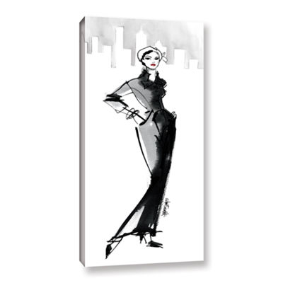 Brushstone Fifties Fashion III Gallery Wrapped Canvas Wall Art