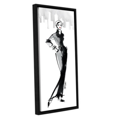 Brushstone Fifties Fashion III Gallery Wrapped Floater-Framed Canvas Wall Art