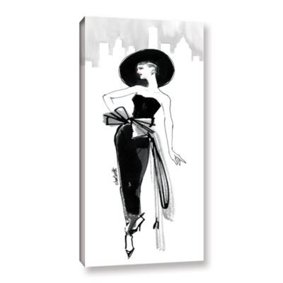 Brushstone Fifties Fashion IV Gallery Wrapped Canvas Wall Art