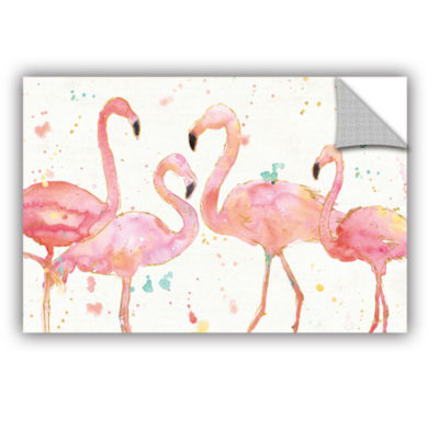 Brushstone Flamingo Fever I Removable Wall Decal